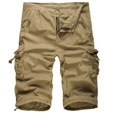 Men's Military Combat Camo Cargo Shorts Pants Work Casual Short Army 32 34 36 38