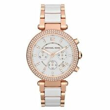 Michael Kors Mk2281 Ladies White Chronograph Mineral Watch A01d