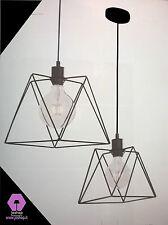 joshop lampadario moderno essenziale angolo P.nuovo 1 luce nero semplice cucina