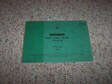 Mercedes Benz Unimog w/ M130 M 130 Engine Factory Parts Catalog Manual Manual