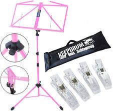 KEEPDRUM MUS3PK Notenstaender Pink + Tasche + 4 Notenklammer