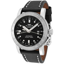 Glycine Men's 3947.191.LB9B Airman 44 Automatic GMT 44mm Black Dial - GL0056