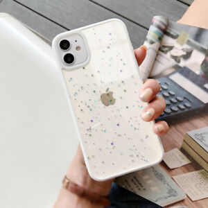 STAR GLITTER Case For iPhone 13 11 XR 11 Pro Max 7 8 X Clear Bling Phone Cover
