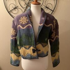 Vintage Flashback Women's Medium Cropped Western Blazer Jacket Top