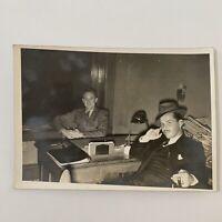 Antique/Vintage Photograph Private Detective? Fedora Hat Smoking Cigar Mustache