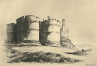 Early 20th Century Etching - Rockingham Castle