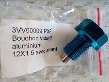 Bouchon de vidange aimanté anodisé alu Bleu  M12 x 1,5 Ducati/honda/kawasaki