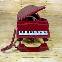 Vintage 1990's Baby Grand Piano Telephone Music Box Purple Tested Collectible