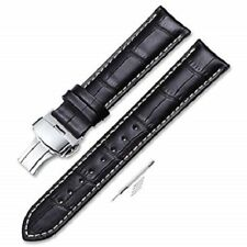iStrap 20mm Alligator Grain Cow Leather Watch Band Strap W/ Butterfly Buckle