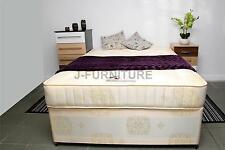 "4ft Small Double Divan Bed+Luxury Orthopaedic Firm 10"" Mattress+Slidindg doors"