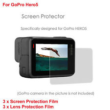2pcs 6XGlass LCD Dispaly HD Film Screen Protector Lens Protector 4 GoPro Hero 5