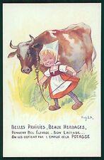 art RIGHT advertising Agriculture Fertilizer POTASSE  original 1910s postcard