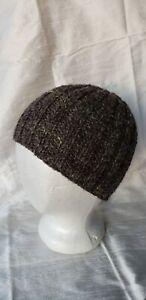 Handspun Handmade Wool Alpaca Skull Beanie