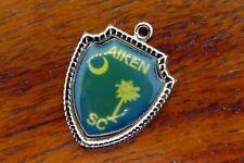 Tree Moon Travel Shield charm #E30 Vintage silver Aiken South Carolina Flag