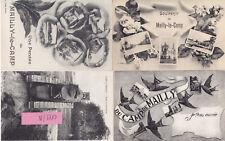 Camp de Mailly Char et soldats Francais guerre 14-18 photo sur CPA lot 0119/N