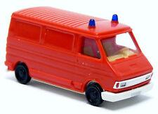 Busch Praline Fiat 242 Kasten GW VRW Feuerwehr neutral rot 1:87 H0