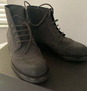 Bottega Veneta Hammer Boots US 8  EU 41 Dark Gray Leather Rubber Italy $810