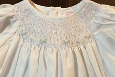 BRAND NEW NWT Petit Ami White Pink Smocked Rose Floral Dress NEWBORN