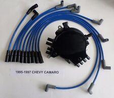 CHEVY CAMARO 1995-1997 LT1 5.7L 350 OPTISPARK Distributor, BLUE Spark Plug Wires