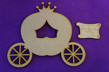 Fairytale Princess Pumpkin Carriage C 15cm/150mm - Craft Embellishment MDF