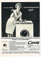 PUBLICITE  1966    CANDY  lave linge machine à laver