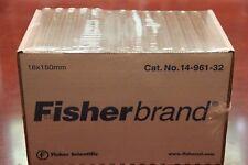 Fisherbrand Glass Test Tubes Tube 18x150mm 500case 14 961 32