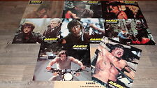stallone RAMBO first blood  !  jeu de photos cinema lobby card