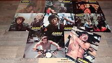stallone RAMBO first blood  !  jeu de photos cinema lobby cards 1982