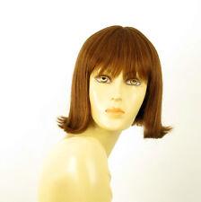 perruque femme 100% cheveux naturel châtain clair cuivré ref FRANCOISE 30