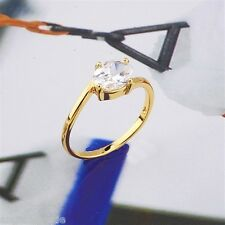 18K Yellow Gold Filled CZ Ring (R-162)