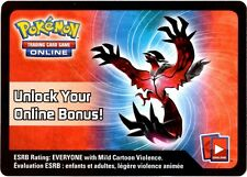 Pokemon TCG Yveltal Online CODE CARD From 2014 Spring Tin