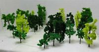N Gauge-Railroad Scenery-Assorted Model Trees-3 Sizes-3 Colors-18 Pieces Total