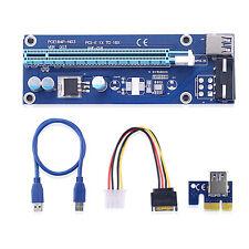 PCI-Express USB 3.0 x1+ 16X Extender Riser-Kartenadapter Stromkabel x6