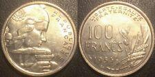 France - IVème République - 100 francs Cochet 1955 B, ruban large SUP ! F.450/7
