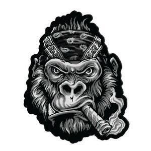 Lethal Threat Gorilla Fumer Bandana Moto Motard Patch à Repasser LT30214