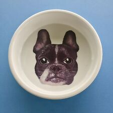 FRENCH BULLDOG Hand Painted Dog Ceramic Bowl Designed in Melbourne