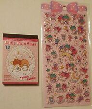 Sanrio Little Twin Stars Kawaii Mini Memo pad sticker sheet seals Lot Japan