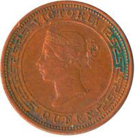 COIN / CEYLON / HALF CENT 1893 QUEEN VICTORIA   #WT5291