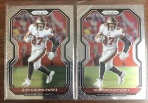(2 LOT) 2020 Panini Prizm Rob Gronkowski Tampa Bay Buccaneers Football Card #256