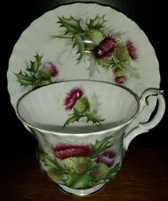 ROYAL ALBERT Highland Thistle tea cup and saucer (multiple available)