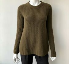 Theory Olive Green Wool Cashmere Sweater Size Small