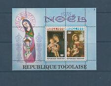 Togo bloc  noel  tableaux      de 1975    num:  89 **
