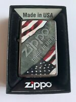 Zippo Bradford Lighter Flags New In Box MAD in USA