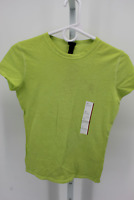 WOMEN'S SHORT SLEEVE SLIM FIT T-SHIRT - WILD FABLE LIME XS  - NEW W/TAGS
