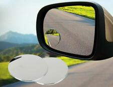 2Pcs Round Stick On Rear-view Blind Spot Convex Wide Angle Mirrors For Car Auto