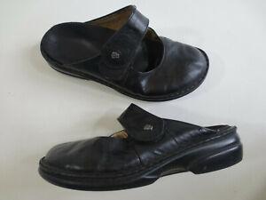 FINN Comfort Schuhe Keil Pantolette Sandale Hausschuhe 36 Leder schwarz /10