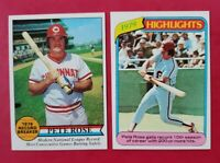 1979 & 1980 Topps  #204 & #4 PETE ROSE (REDS HIT KING) (NM-MT) *2 AWESOME CARDS*