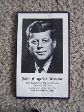 John F. Kennedy JFK Funeral Prayer Card 35th President Vintage 1963 VINAGE B&W