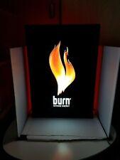 BURN Energy Drink Illuminated Advertising Sign Red Light Display