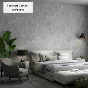 3D Grey Cement Concrete Wallpaper Textured Slate Stone Steel Grey Wallpaper Roll